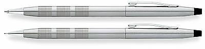 Cross Classic Century Satin Chrome Ballpoint Pen and Pencil Set AT0081S-14