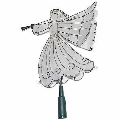 NWT Trim A Home Silver Angel Christmas Tree Topper 10.5 inch Light up