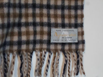 Aquascutum of London Pure Lambswool Scarf Made in Great Britain