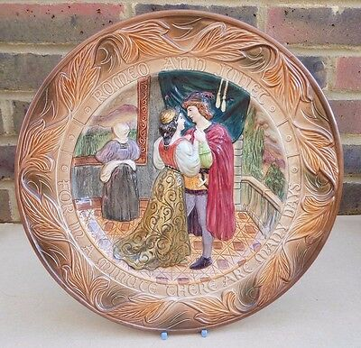 BESWICK Shakespeare Large Relief Plate / Charger - Romeo and Juliet