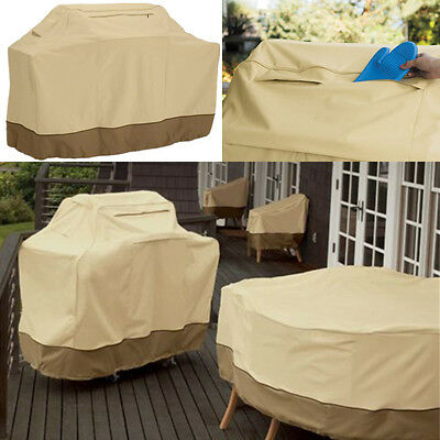 145-190cm Waterproof BBQ Grill Patio Barbecue Cover Garden Storage Bag Protector