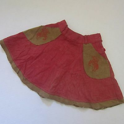 Vintage girls cowgirl skirt ~ 1950's