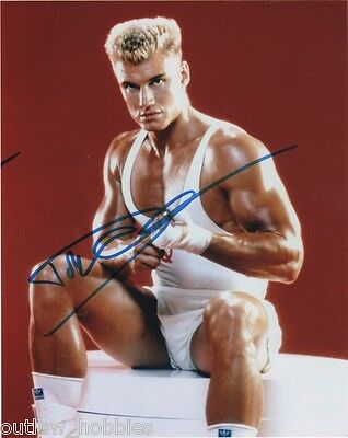 Dolph Lundgren Rocky Autographed Signed 8x10 Photo COA PROOF
