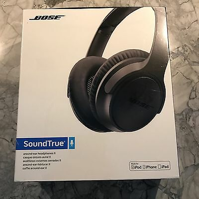 New Bose SoundTrue Around-Ear Headphones II for Apple Devices, Charcoal Black