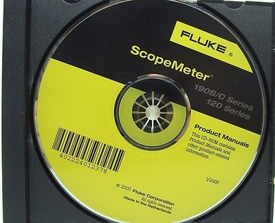 Fluke 120 and 190B/C  Series Scopemeter Product Manuals for Windows, Used