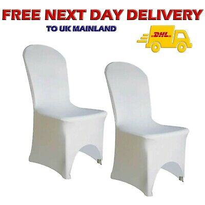 100pcs White Spandex Lycra Chair Cover Wedding Banquet ARCH FRONT Wedding Party