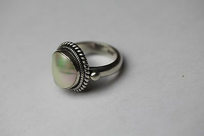 Ring mit Perlmutt - Cabochon  Silber 925