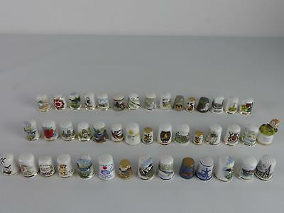 (Ref165CL) Vintage Thimble Collection