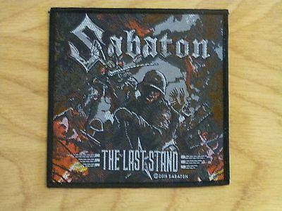 Sabaton - The Last Stand (New) Sew On W-Patch Official Band Merch