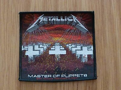 Metallica - Master Of Puppets  (New) Sew On W-Patch Official Band Merchandise