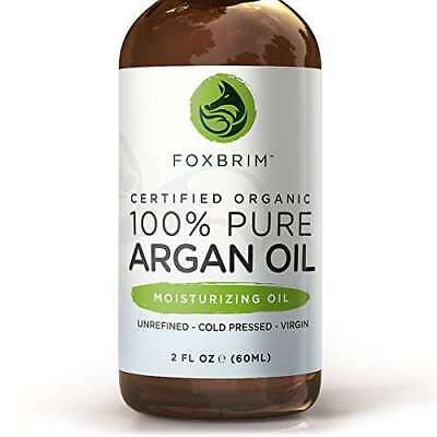 NEW Foxbrim Certified Organic 100 % Pure Argan Oil 2 oz