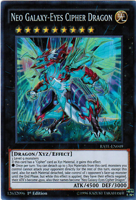 Yugioh RATE Neo Galaxy-Eyes Cipher Dragon RATE-EN049 Super Rare NM 1st