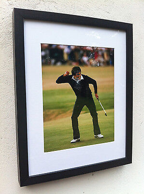 Golf - Framed/mounted 10x8 photo of Seve Ballesteros The Open - St Andrews, 1984