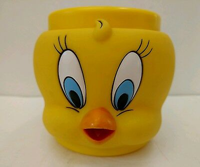 Tweety Bird MUG Warner Brothers LOONEY TUNES 1992 Cup Figurine Face Plastic