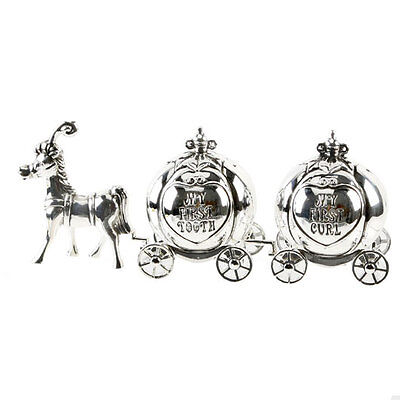 Silver Plated My First Tooth/Curl Cinderella Carriage
