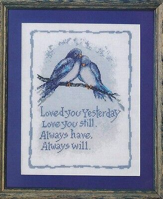 Lovebirds - Loved you Yesterday - Cross Stitch Chart - FREE POST