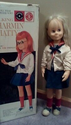 Vintage 1962 Mattel Charmin Chatty talking doll 25 inches tall with box