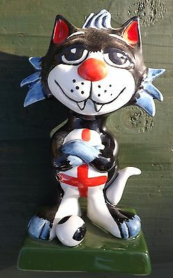 Lorna Bailey Cat ENGLAND FOOTBALLER  arms folded,  signed in black