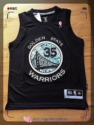 NBA BASKETBALL GOLDEN STATE #35 KEVIN DURANT BLACK JERSEY (Express post)