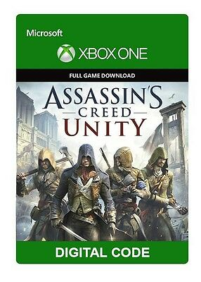 Assassin's Creed Unity XBOX ONE GAME Digital Download Code (no disc)