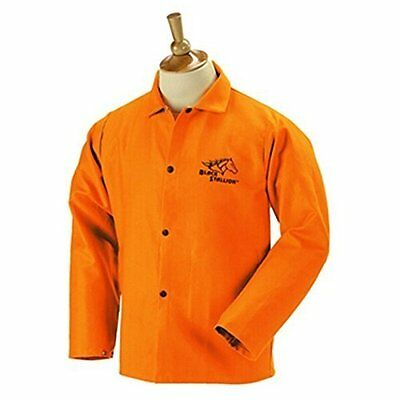 "Revco Black Stallion FO9-30C 30"" 9oz. Orange FR Cotton Welding Jacket, 3X-Large"