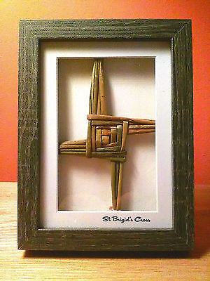 St Brigid's Cross /St Bridget's Cross Handcrafted Cross 3 D Box W /Free Bookmark