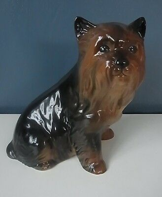 "LOVELY COOPERCRAFT YORKISHIRE TERRIER - ""YORKY"" FIGURINE - 6"" Tall - VGC"