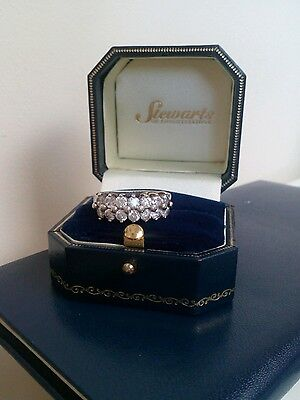 Qvc Sterling Silver  Diamonique Cluster  Band Ring  Size N