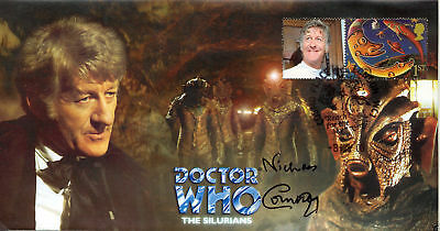 "Doctor Who The Silurians"" Collectable Cover Signed the late NICHOLAS COURTNEY"
