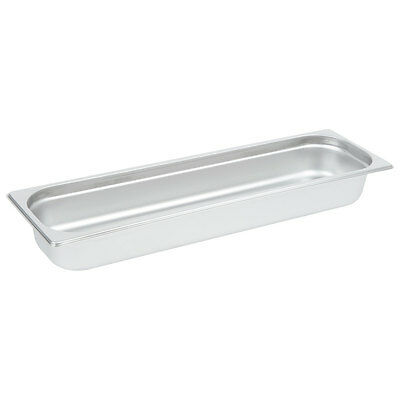 "1/2 Size Long NSF Silver Stainless Steel Steam Table / Hotel Pan - 2 1/2"" Deep"
