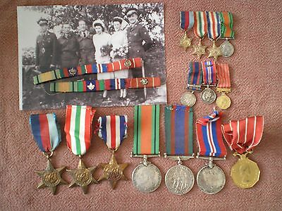 WW2 CANADIAN FORCES DECORATION MEDAL GROUP & MINIATURES to WESTMORELAND, SIGNALS