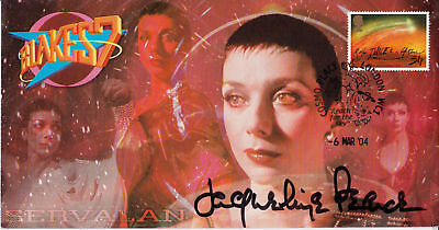 "Official Blakes 7 ""Servalan"" Stamp Cover - Signed in person by JACQUELINE PEARCE"