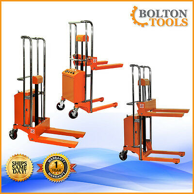 Bolton Tools Pallet Stacker Jack Lift Electric Powered Operated 880 lb ETF40-11