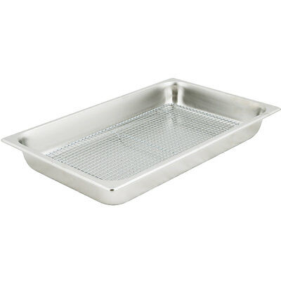 Choice Full Size Silver NSF Stainless Steel Pan and Cooling Rack / Pan Grate Set