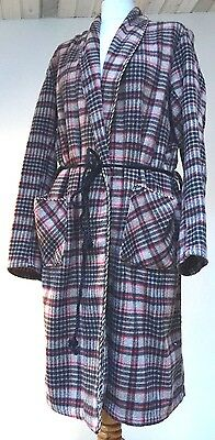 """VINTAGE MCGREGORs 1940-60'S MEN'S CLASSIC 100% WOOL PLAID ROBE DRESSING GOWN 44"""""""