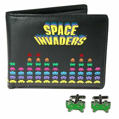 Official Space Invaders Cufflinks and Wallet Set Ideal for the retro gamer