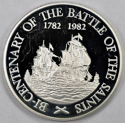 St Kitts & Nevis 1982 silver 20$ Battle of Saints