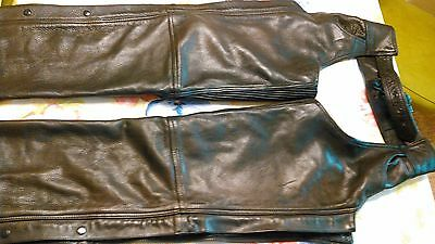 leather motorcycle chaps by Hudson Leathers