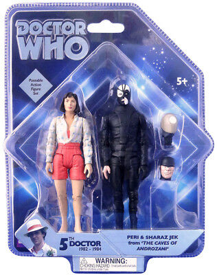 Doctor Who Exclusive Figure Set - Peri & Jek from 'The Caves of Androzani' - NEW