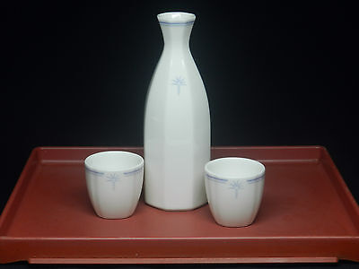 Singapore Airlines Raffles-Business Class Japanese Sake Bottle Decanter & cups