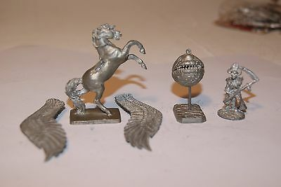 Pegasus winged horse skeleton wizard and other ral partha metal  monster ad&d