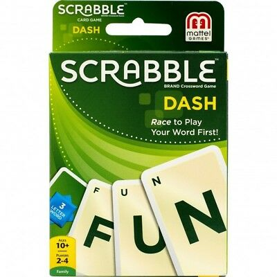 SCRABBLE DASH CARD GAME - Great Family Fun - Ideal when travelling - NEW