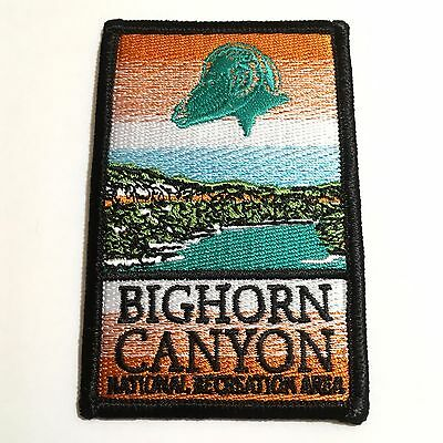 Official Bighorn Canyon National Recreation Area Souvenir Patch Montana Park