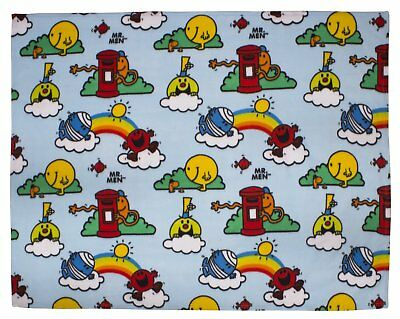 """Mr Men """"Clouds"""" Rotary Multi-Coloured Fleece Blanket - Cuddly  & Colourful!"""