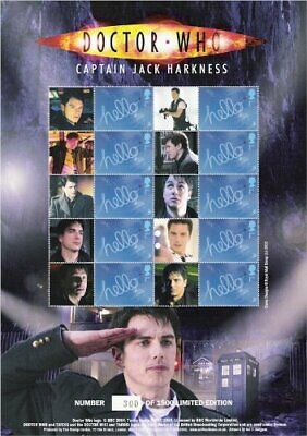 Doctor Who Captain Jack Harkness Collectable Smiler Stamp Sheet - BC-147