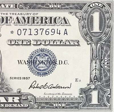1957 $1 Blue Choice VF SILVER Certificate *** STAR *** X694 Old US Currency!