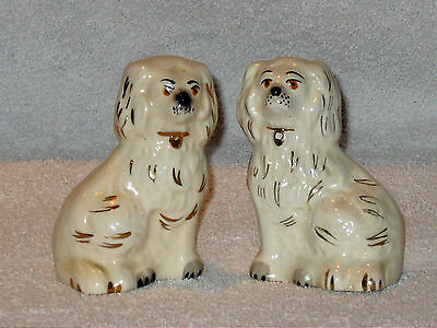 "Pair Of Vintage Beswick Fireside Wally Dog Figurines 3 1/2"" Tall 1378-7 Perfect"
