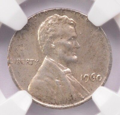 NGC 1c 1960 Lg Lincoln Cent on Silver Dime Planchet MS-63