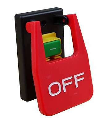 Switch Paddle Power Tool Pushbutton On Off Grizzly 120V Emergency Shut