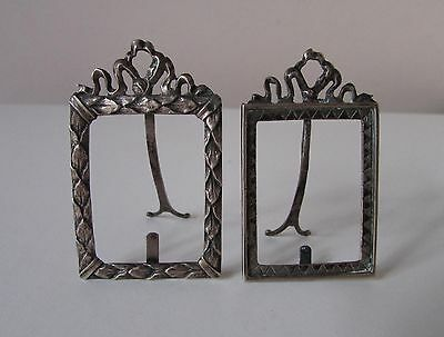 Antique Sterling Silver Miniature Dutch Repousse Picture Frames Set Hallmark